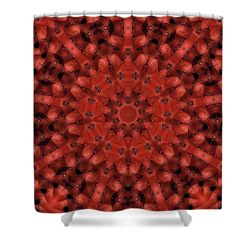 Kaleidoscope Shower Curtain featuring the photograph Kaleidoscope 60 by Ron Bissett
