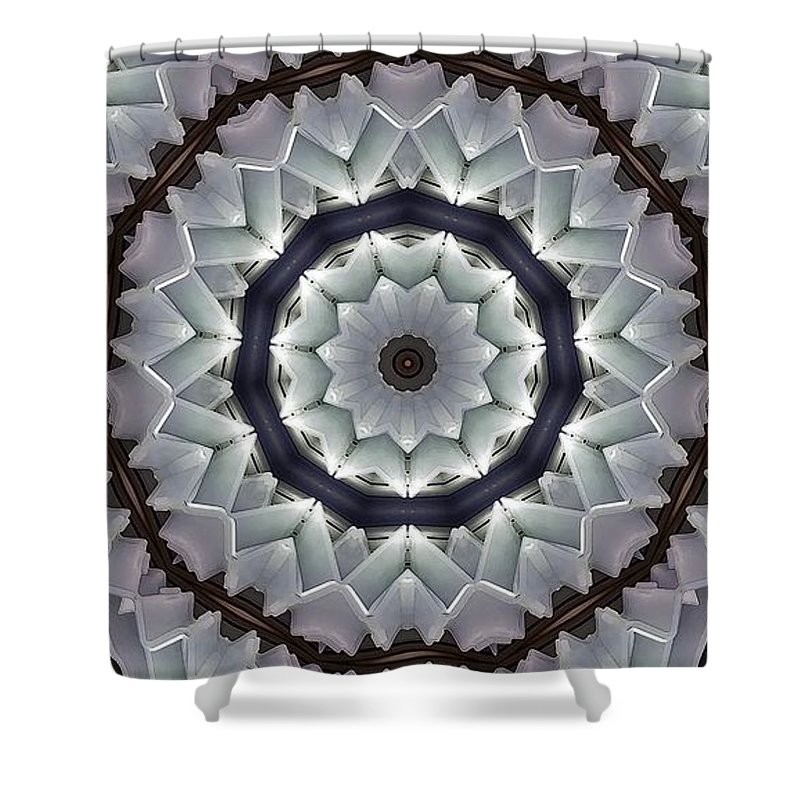 Kaleidoscope Shower Curtain featuring the photograph Kaleidoscope 63 by Ron Bissett