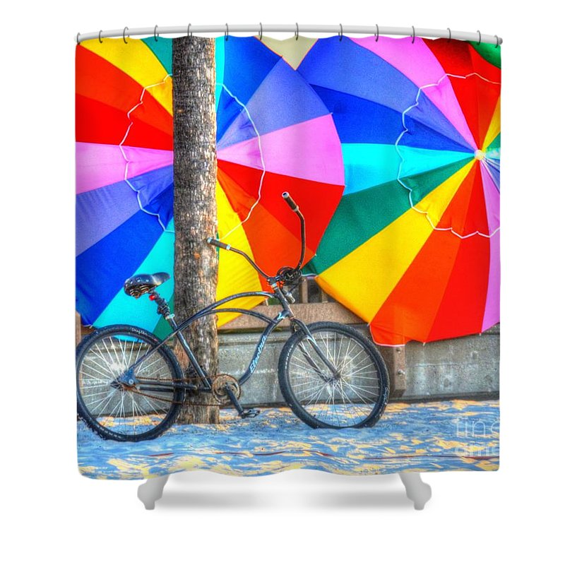 Bike Shower Curtain featuring the photograph Kaleidoscope by Debbi Granruth