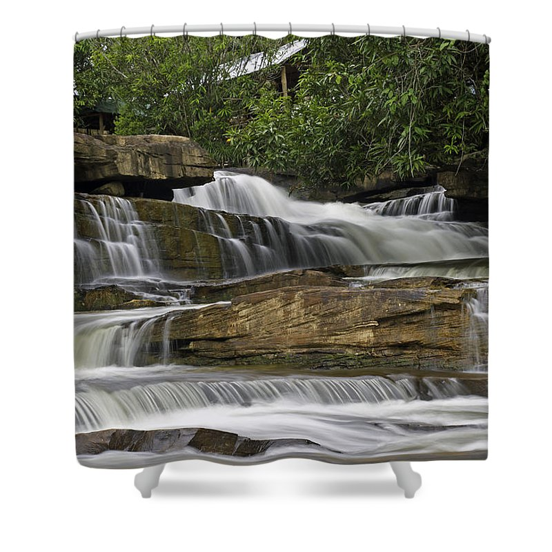 Cambodia Shower Curtain featuring the photograph Kbal Chhay Waterfalls by David Freuthal