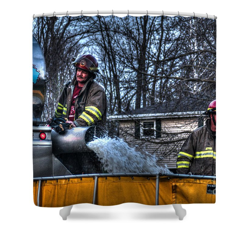 Fire Shower Curtain featuring the photograph Keep Fire In Your Life No 12 by Tommy Anderson