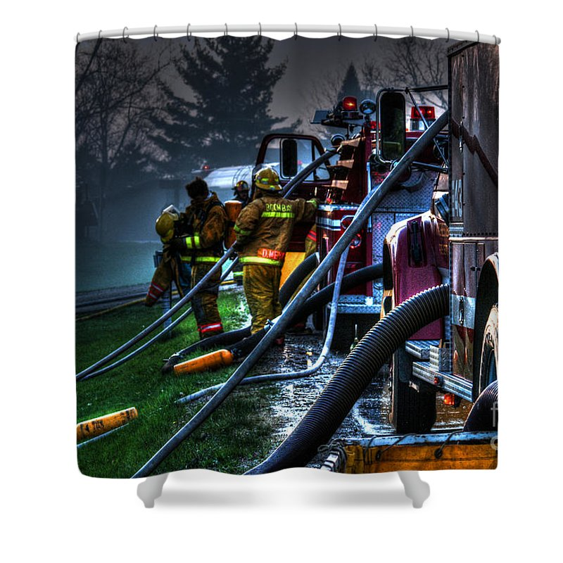 Fire Shower Curtain featuring the photograph Keep Fire In Your Life No 6 by Tommy Anderson
