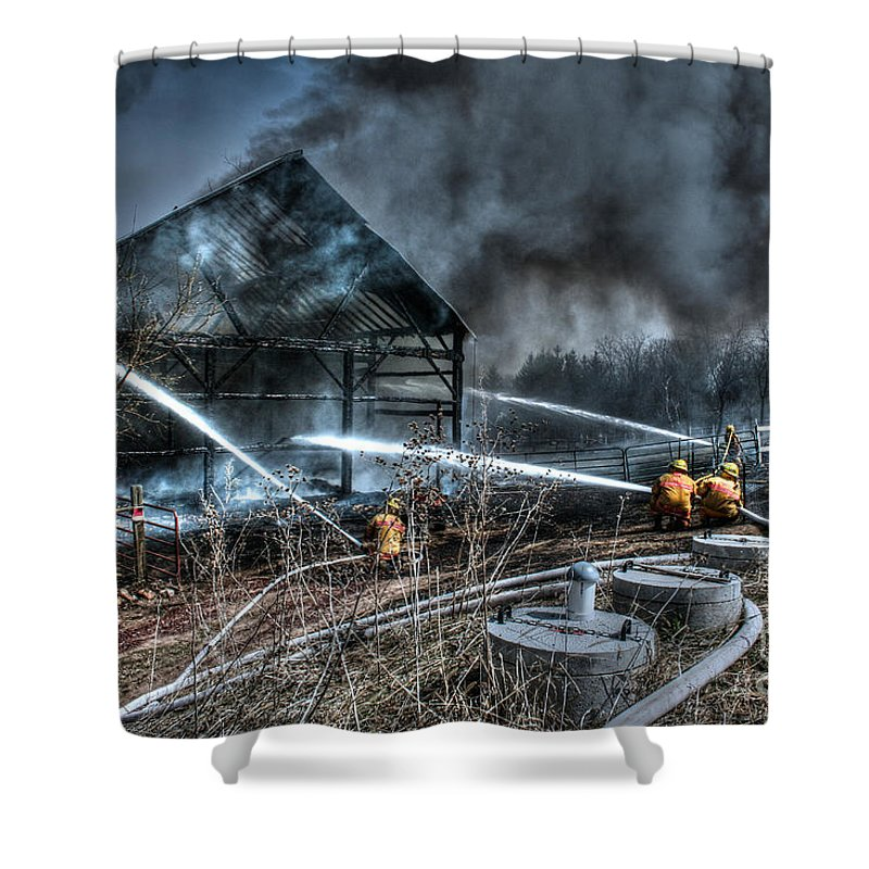 Fire Shower Curtain featuring the photograph Keep Fire In Your Life No 9 by Tommy Anderson