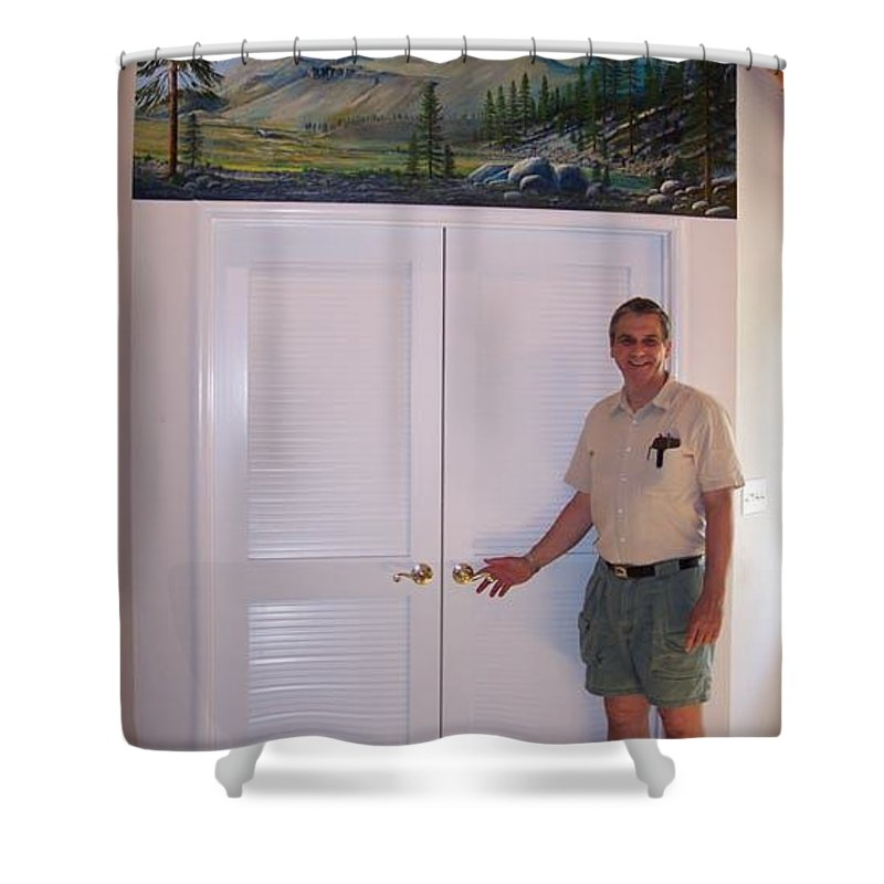 Mural Shower Curtain featuring the painting Kennedy Meadows Mural by Frank Wilson