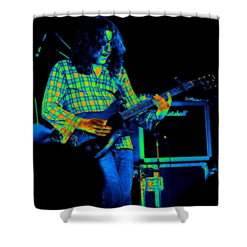 Slide Guitar Shower Curtain featuring the photograph Kent #23 Crop 2 In Cosmicolors by Ben Upham