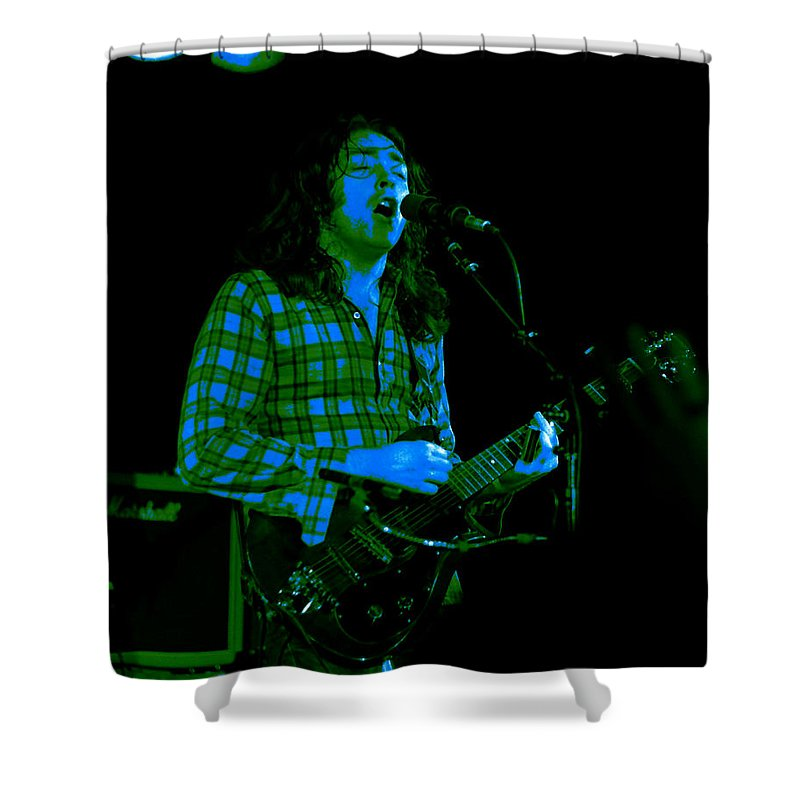 Slide Guitar Shower Curtain featuring the photograph Kent #24 With Enhanced Colorization by Ben Upham