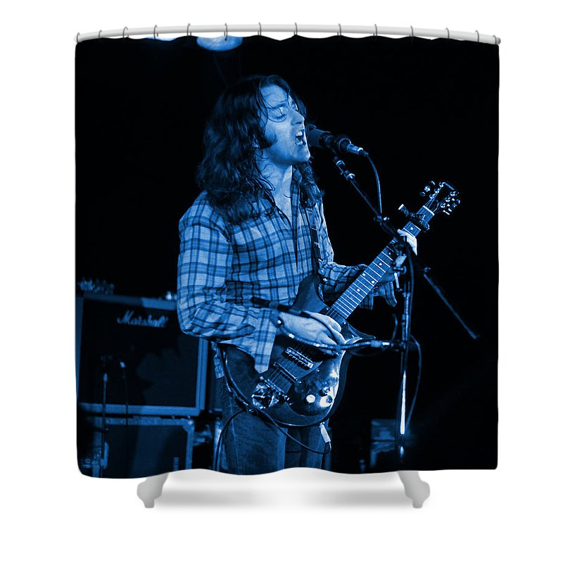 Musicians Shower Curtain featuring the photograph Kent #25 Crop 2 In Blue by Ben Upham