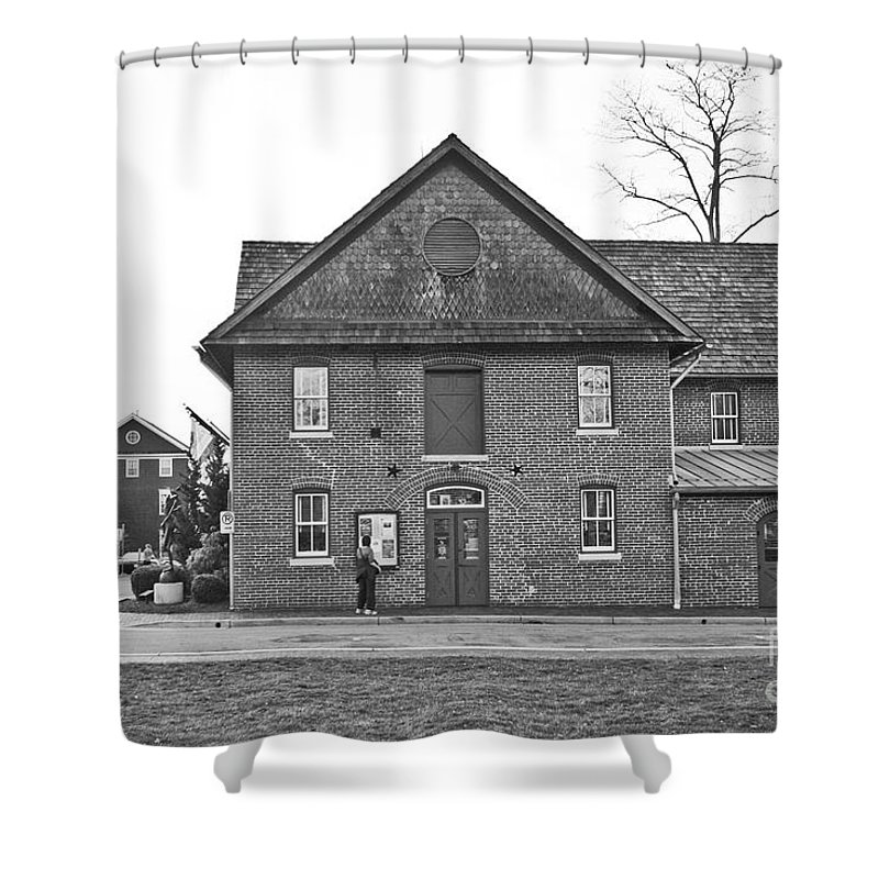 Kentlands Shower Curtain featuring the photograph Kentlands Arts Barn by Thomas Marchessault