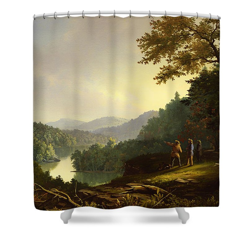 Painting Shower Curtain featuring the painting Kentucky Landscape 1832 by Mountain Dreams