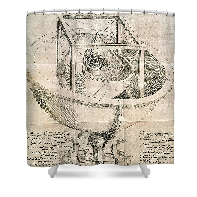 1596 Shower Curtain featuring the photograph Keplers Universe, 1596 by Granger