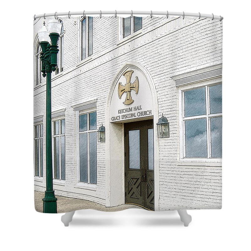 Church Shower Curtain featuring the photograph Ketchum Hall by Lee Owenby