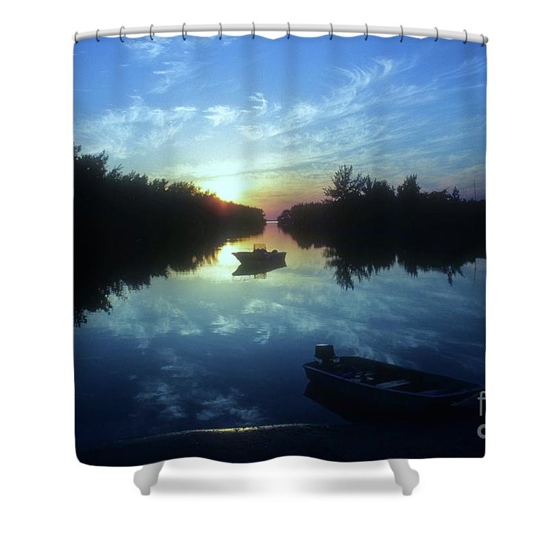 Key Biscayne Sunset Shower Curtain featuring the photograph Key Biscayne Sunset 2 by Allen Beatty