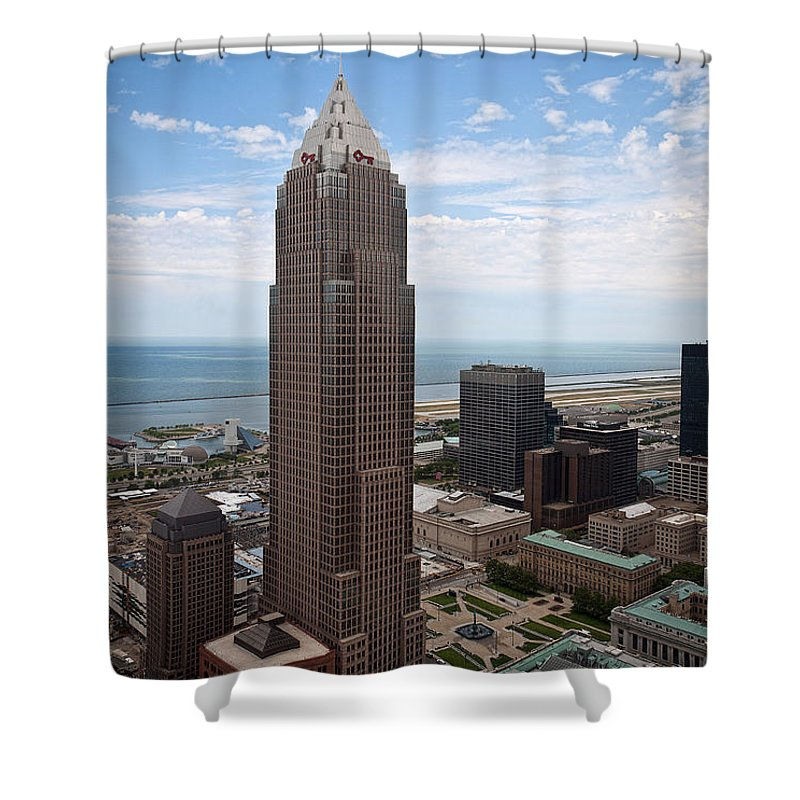 Key Tower Shower Curtain featuring the photograph Key Tower by Dale Kincaid