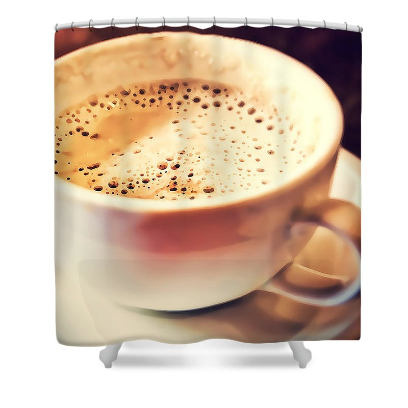 Aroma Shower Curtain featuring the photograph Kick Starter by Scott Norris