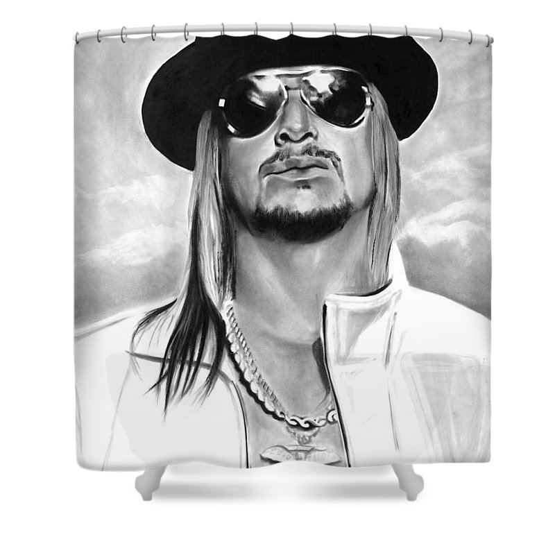 Bdcurran Shower Curtain Featuring The Drawing Kid Rock By Brian Curran