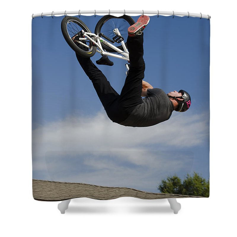 2d Shower Curtain featuring the photograph King Bmx 1 by Brian Wallace