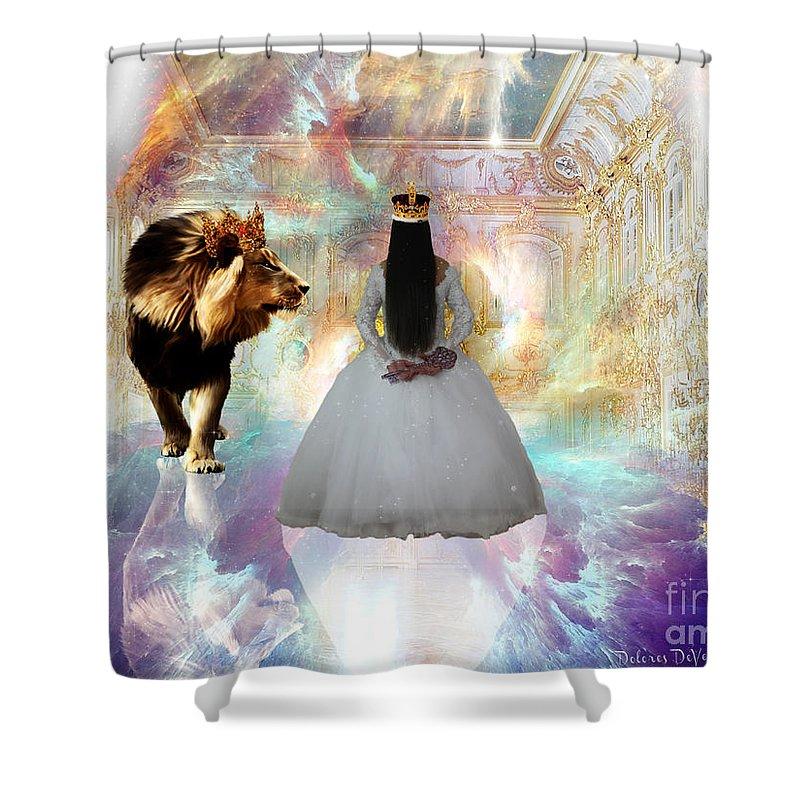Kingdom Seer Shower Curtain featuring the digital art Kingdom Seer by Dolores Develde