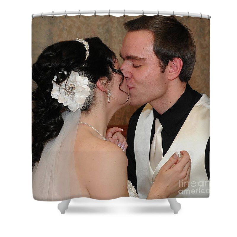 Bride Shower Curtain featuring the photograph Kiss by Kathleen Struckle
