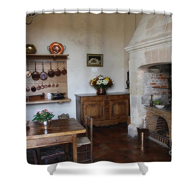 Kitchen Shower Curtain featuring the photograph Kitchen At Chateau Villandry by Christiane Schulze Art And Photography