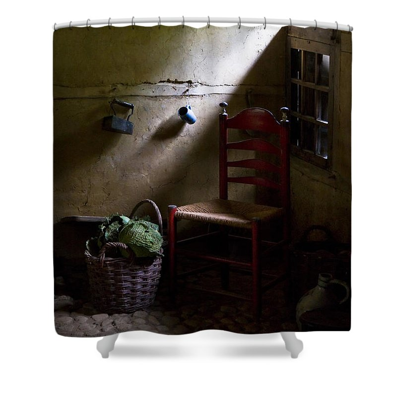 Dutch Kitchen Shower Curtain featuring the photograph Kitchen Corner by Dave Bowman