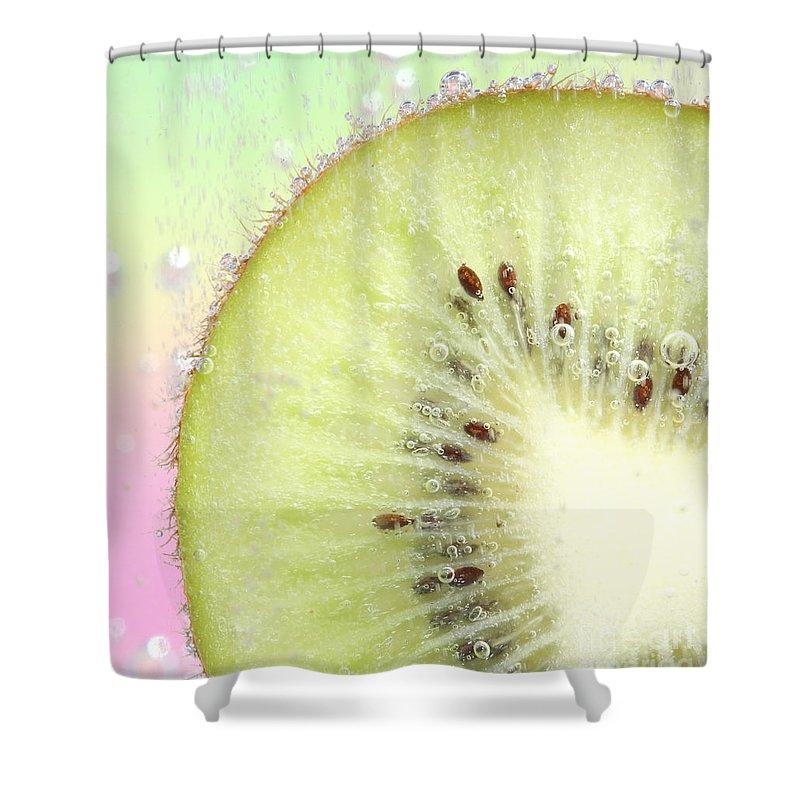 Kiwi Shower Curtain featuring the photograph Kiwi Splash by Ruth Jolly