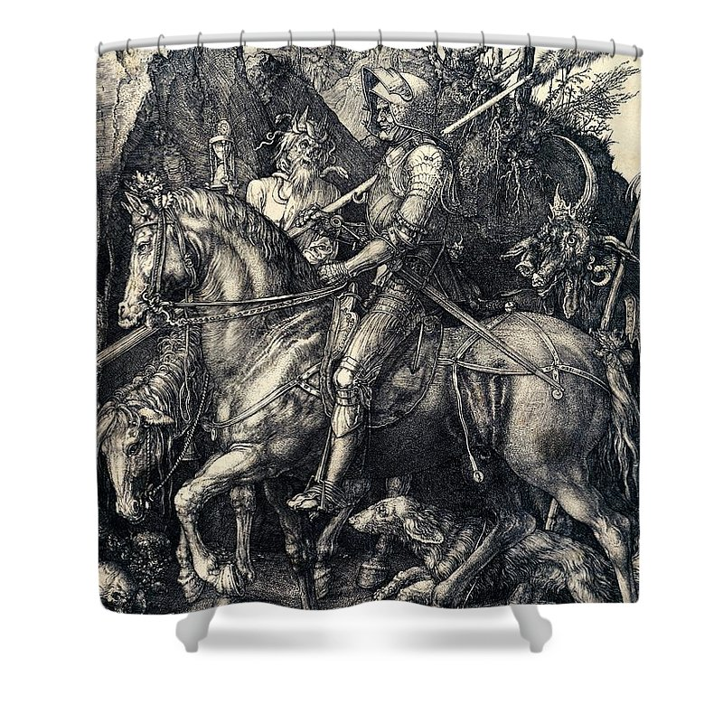 Riding Drawings Shower Curtains