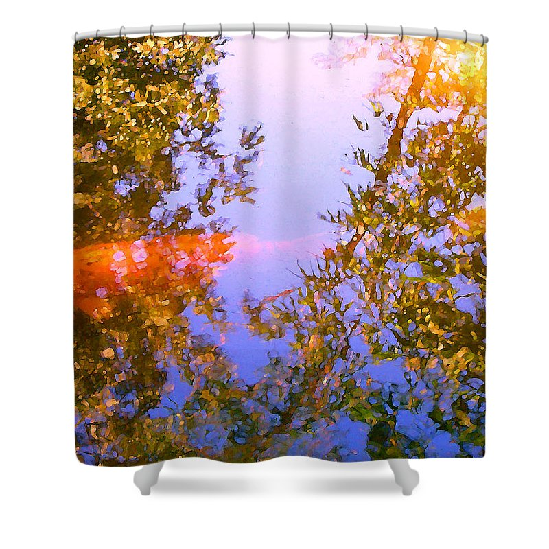 Animal Shower Curtain featuring the painting Koi Fish 4 by Amy Vangsgard