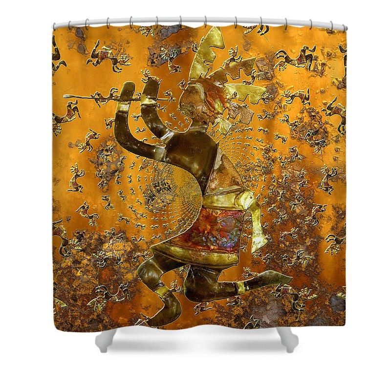 Kokopelli Shower Curtain featuring the photograph Kokopelli by Kurt Van Wagner