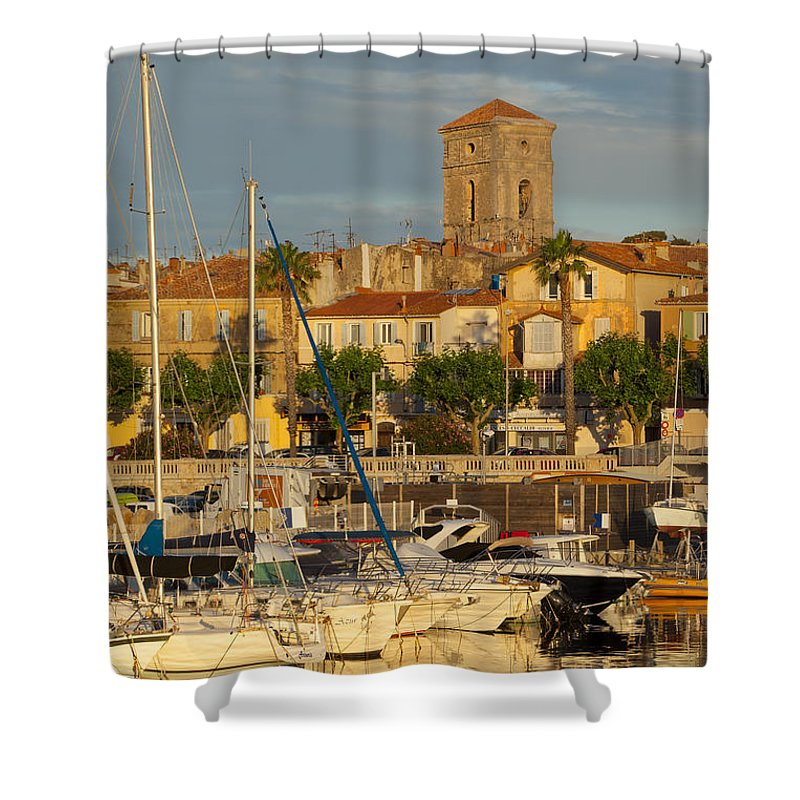Boats Shower Curtain featuring the photograph La Ciotat by Brian Jannsen