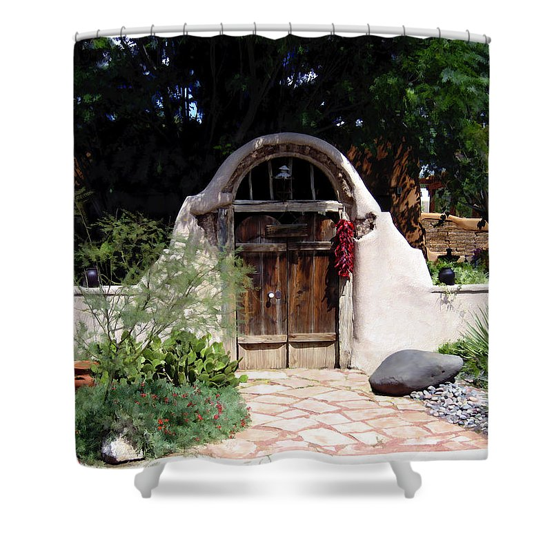 Doors Shower Curtain featuring the photograph La Entrada A La Casa Vieja De Mesilla by Kurt Van Wagner