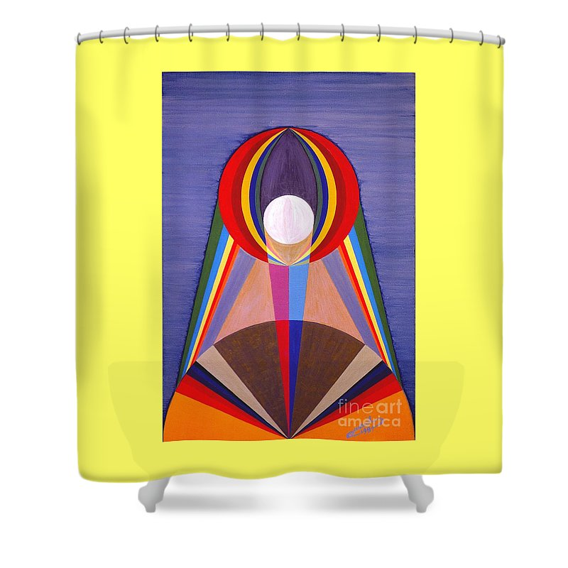 Painting Shower Curtain featuring the painting La Lune - The Moon by Michael Bellon