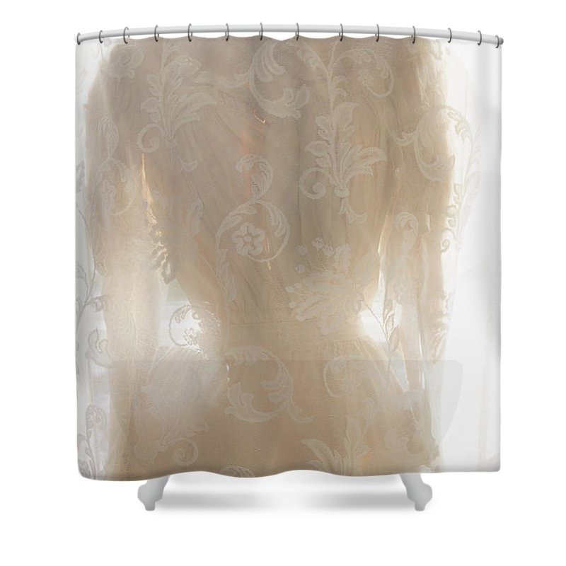 Antique Shower Curtain featuring the photograph Lace Upon Lace by Margie Hurwich