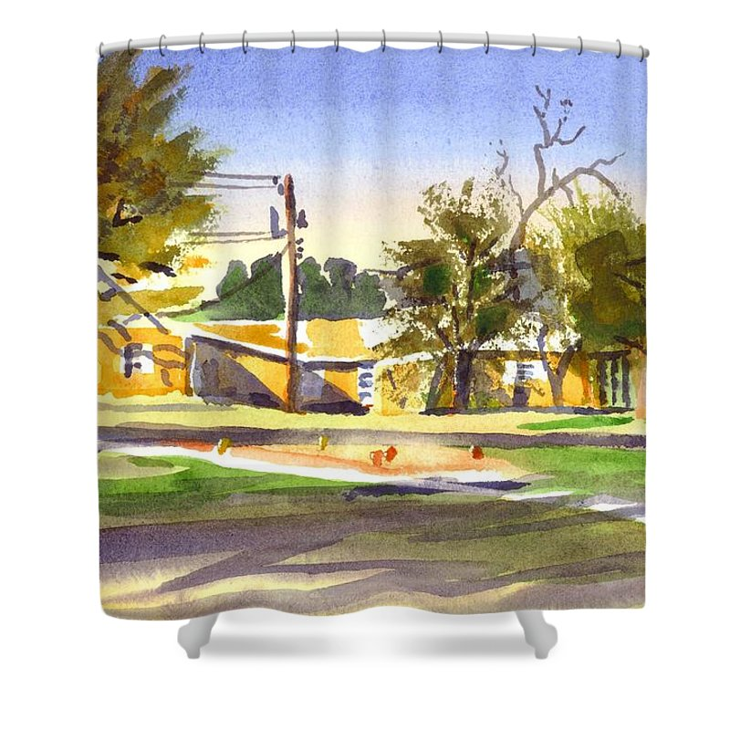 Ladies Tee Shower Curtain featuring the painting Ladies Tee by Kip DeVore