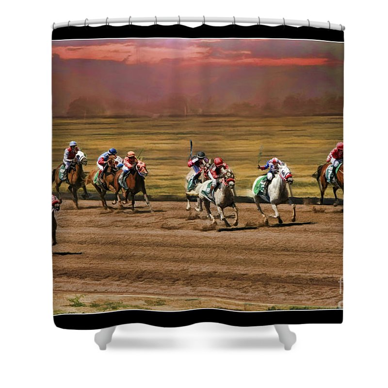 Ladies World Chapionship Ladies Cup Shower Curtain featuring the photograph Ladies World Chapionship Ladies Cup Missing One Lady by Blake Richards