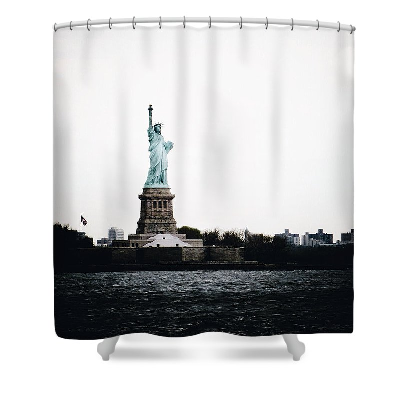 Statue Of Liberty Shower Curtain featuring the photograph Lady Libery by Natasha Marco