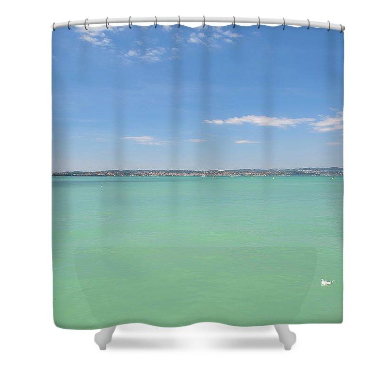 Scenics Shower Curtain featuring the photograph Lago Di Garda by Goranstimac