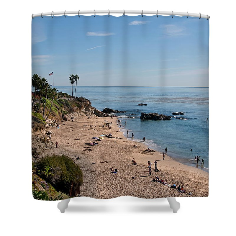 Tranquility Shower Curtain featuring the photograph Laguna Beach Cove by Mitch Diamond
