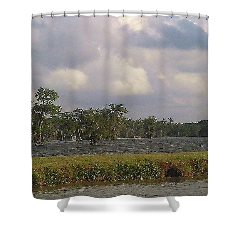 Lake Martin Shower Curtain featuring the photograph Lake Martin by Suzanne Theis