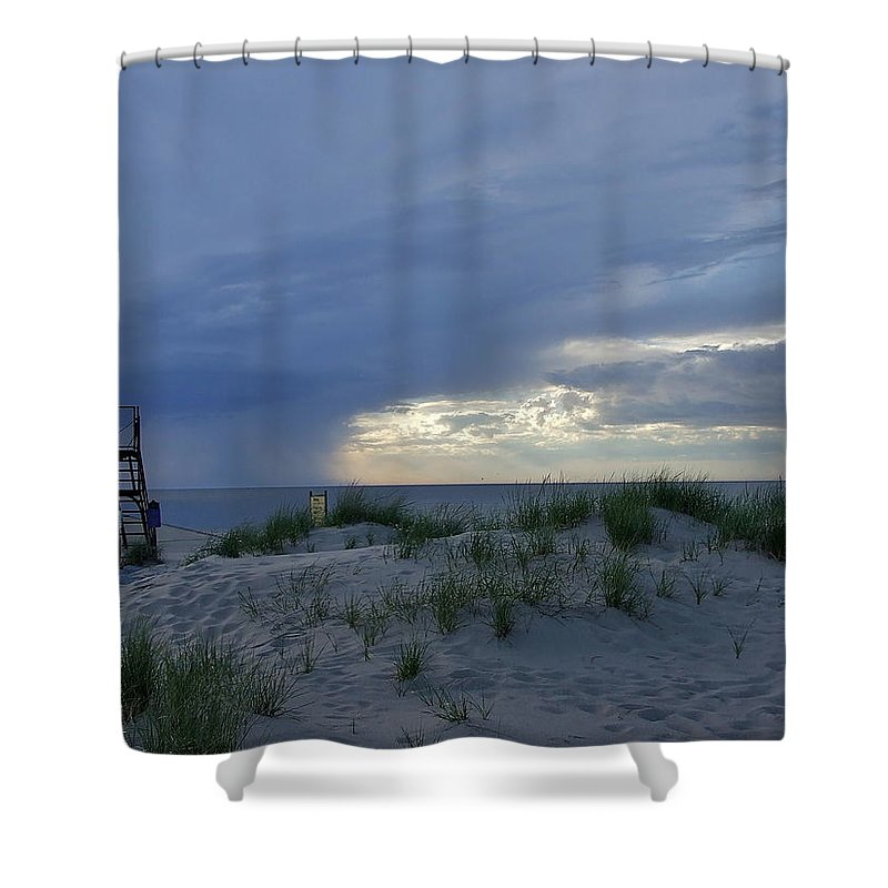 Storm Shower Curtain featuring the photograph Lake Michigan Sky by Susan Wyman