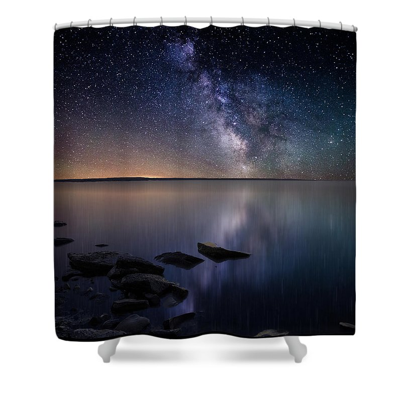 Stars Shower Curtain featuring the photograph Lake Oahe by Aaron J Groen
