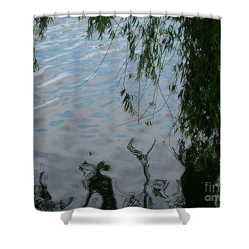 Lake Shower Curtain featuring the photograph Lake Reflections Of Blue by Eric Schiabor