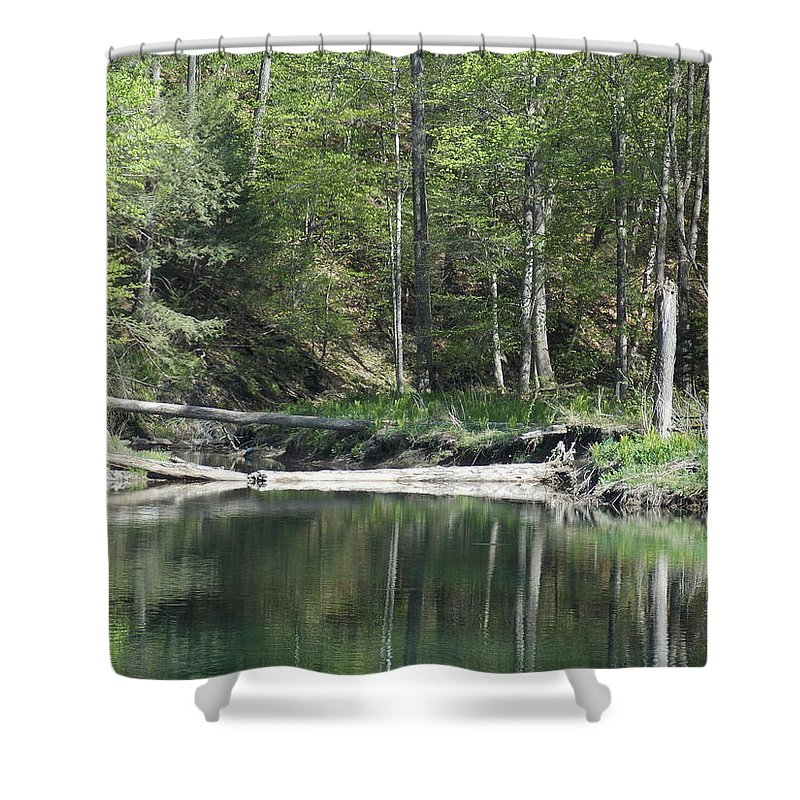 Green River Shower Curtain featuring the photograph Stillness by Catherine Gagne