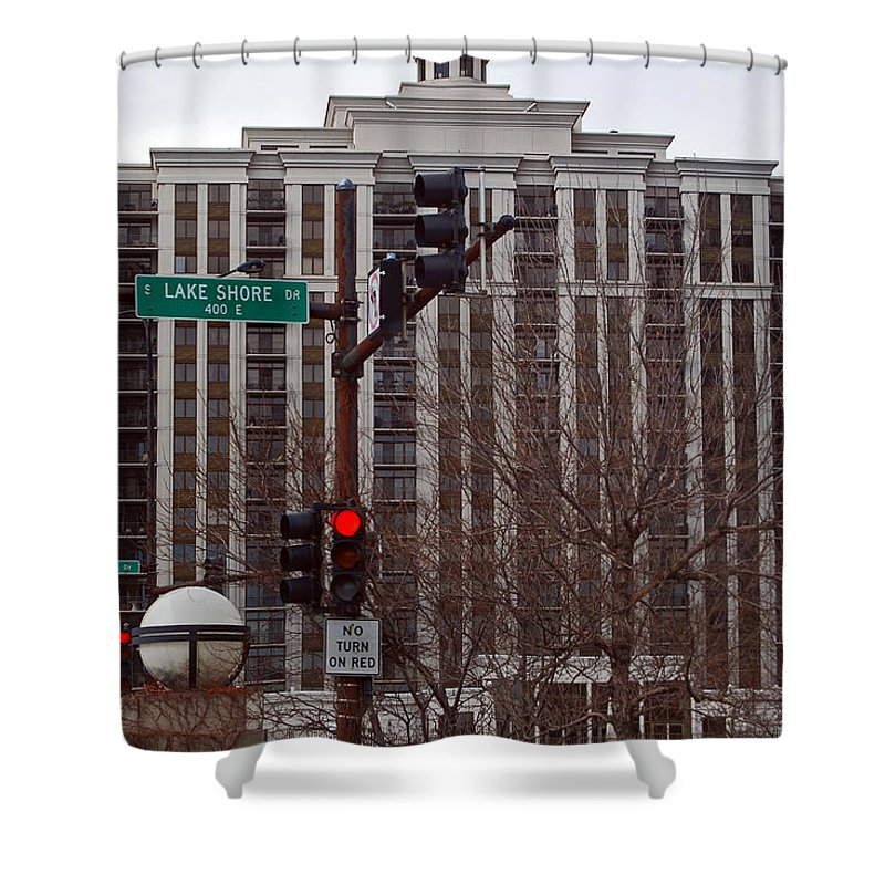 Condos Shower Curtain featuring the photograph Lake Shore Drive Condos by Skip Willits
