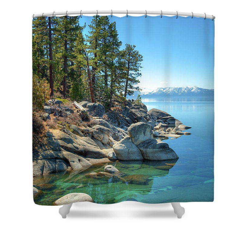 Scenics Shower Curtain featuring the photograph Lake Tahoe, The Rugged North Shore by Ed Freeman