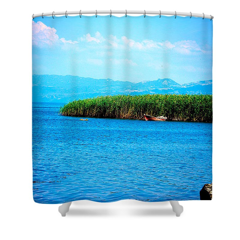 Lake Shower Curtain featuring the photograph Lakeview by Zafer Gurel