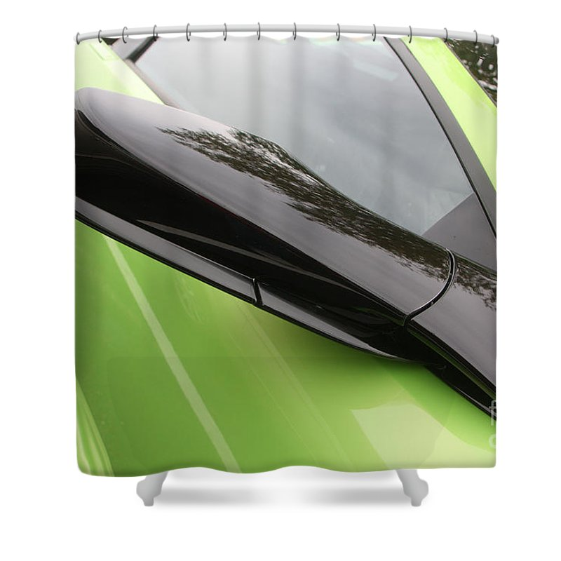 Lamborghini Shower Curtain featuring the photograph Lambopassmir8715 by Gary Gingrich Galleries