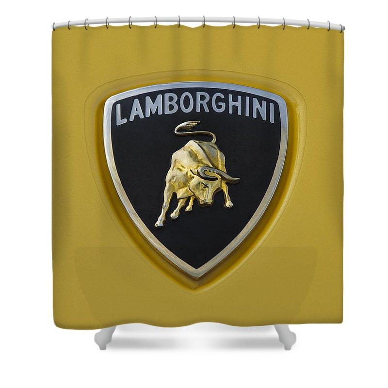 Lamborghini Emblem 2 Shower Curtain For Sale By Jill Reger