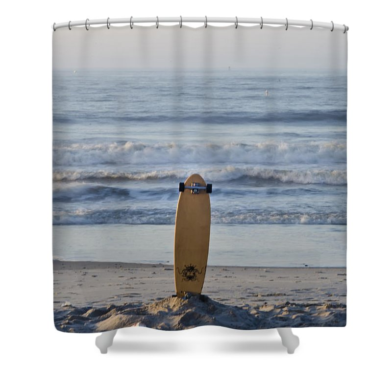 Land Shower Curtain featuring the photograph Land Surf Board by Bill Cannon