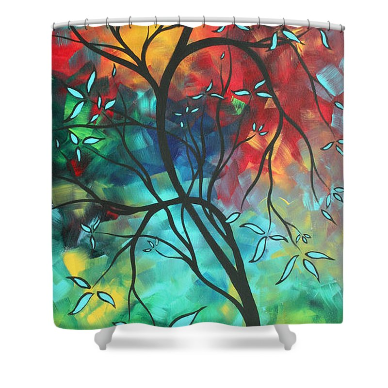 Art Shower Curtain featuring the painting Languishing In The Breeze Original Art Madart by Megan Duncanson
