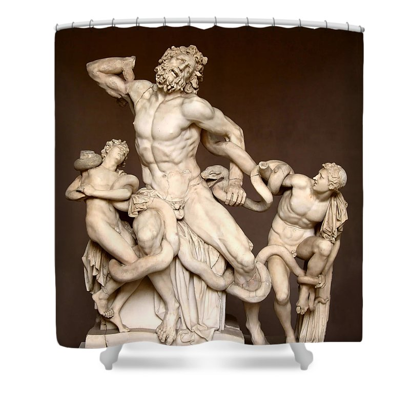 Laocoon And Sons Shower Curtain featuring the photograph Laocoon And Sons by Ellen Henneke